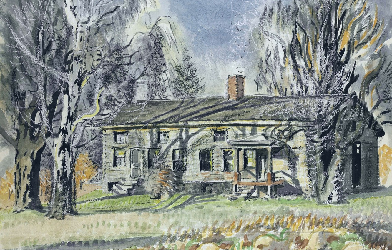 Photo wallpaper Charles Ephraim Burchfield, North of Wyoming Village, Long House