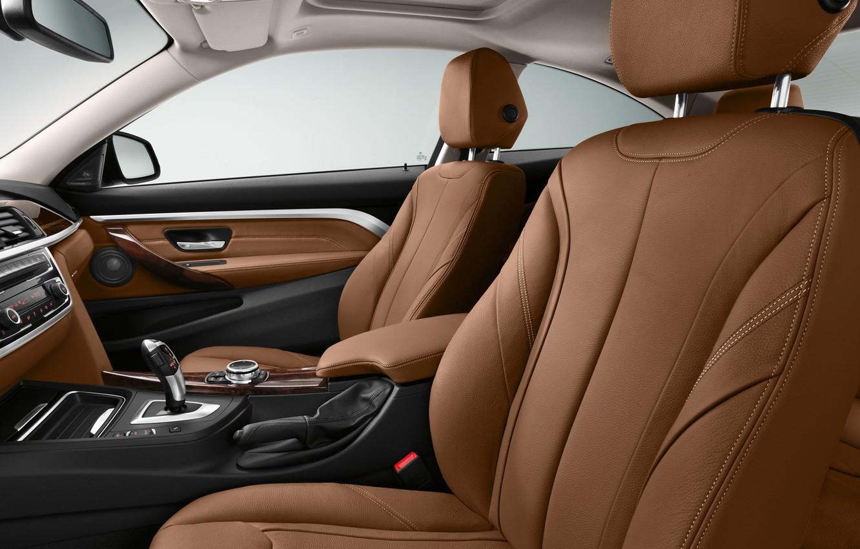 Photo wallpaper leather, BMW, salon, Coupe, 4-Series