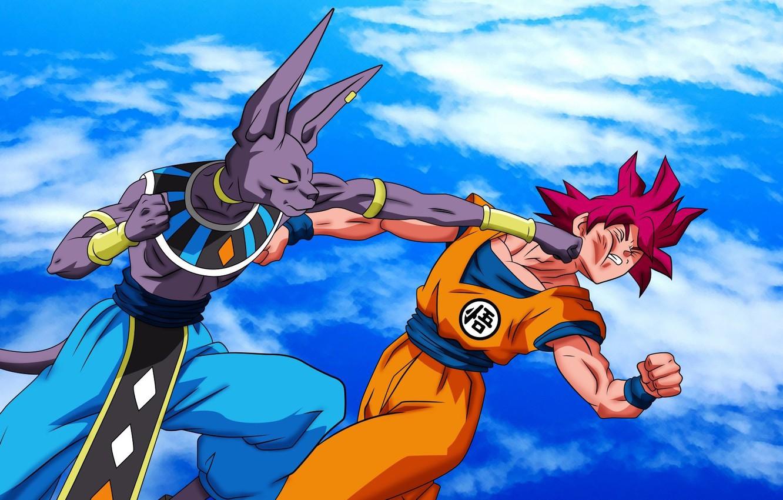 Wallpaper Dbs Game Alien Anime Cloud Fight Punch Manga God