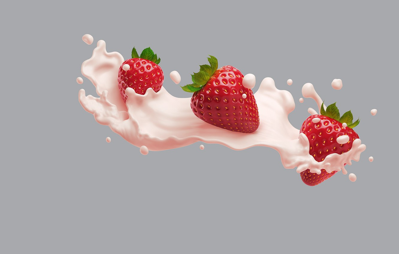 Photo wallpaper food, minimalism, cream, art, Victoria, AJ Jefferies, Philadelphia VIVA Protein Smoothies