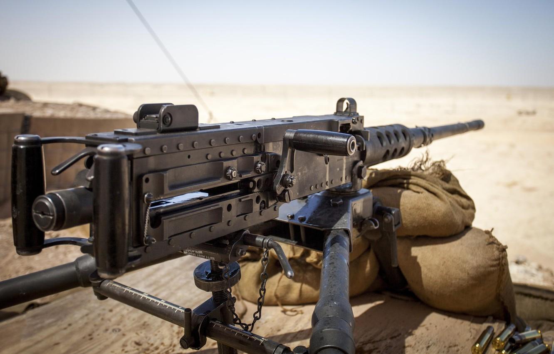 Photo wallpaper bullets, desert, sand, Browning, .50, machine gun, ammunition, M2HB, M2A1, suan