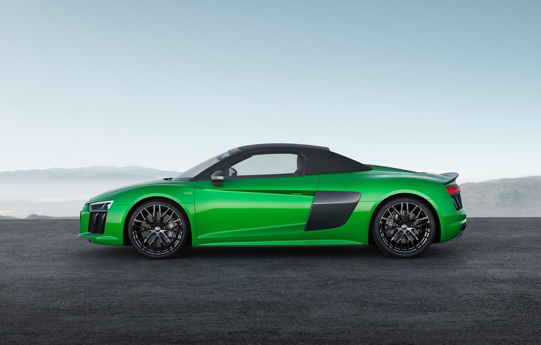 Photo wallpaper car, Audi, green, Audi R8, Audi R8 Spyder, Audi R8 Spyder V10, Audi R8 Spyder …