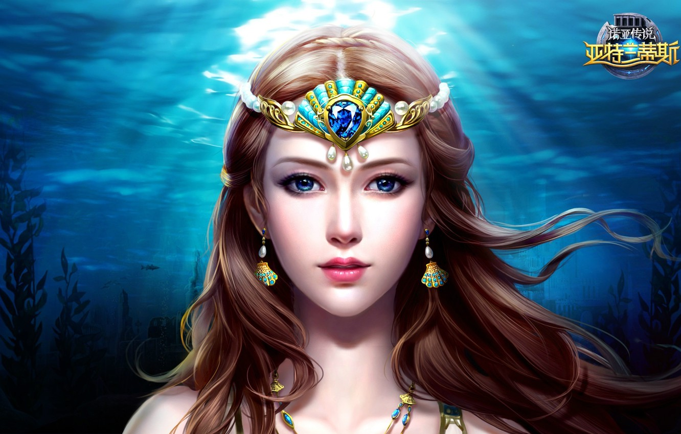 Photo wallpaper water, art, fantasy, location, slots league of heroes