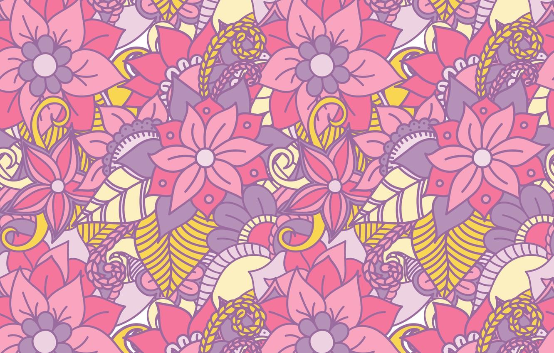 Wallpaper Vector Texture Flowers Design Pattern Floral Images