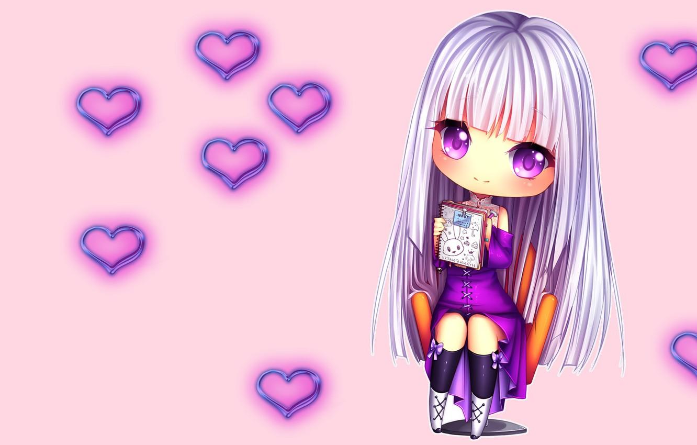 Photo wallpaper heart, anime, art, girl, hearts, notebook, Hyannis-Natsu