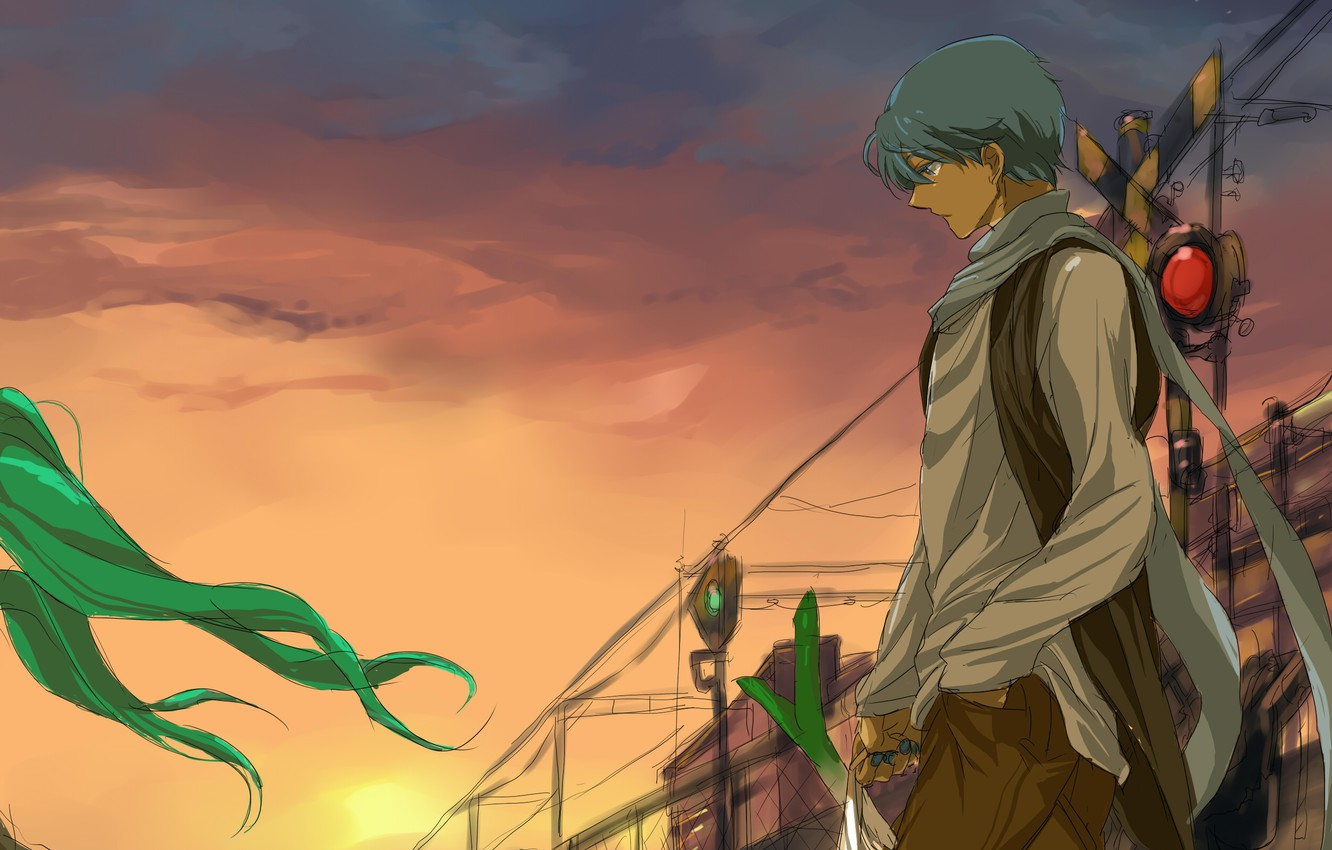 Photo wallpaper the evening, art, guy, Vocaloid, purchase