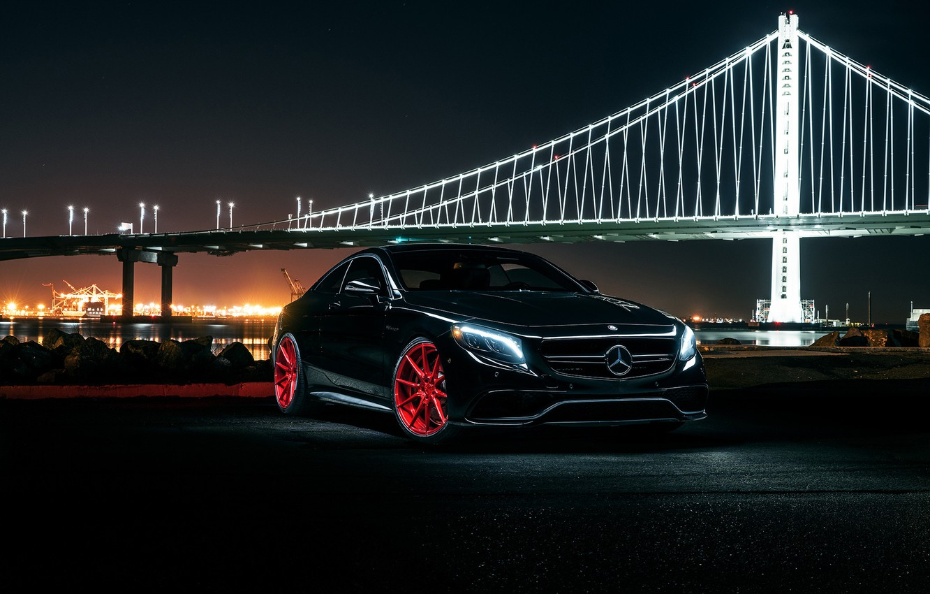 Photo wallpaper Mercedes-Benz, Front, AMG, Coupe, Wheels, Before, S63, Garde