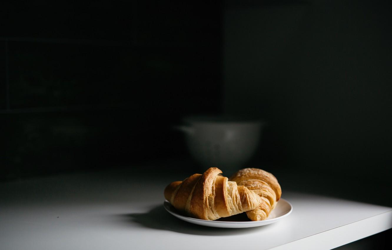 Photo wallpaper dessert, cakes, croissants
