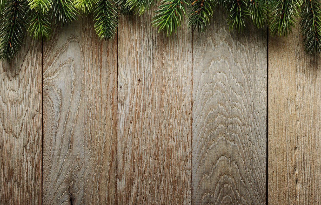 Christmas Wood Background.Wallpaper Branches Background Board Tree Christmas Wood