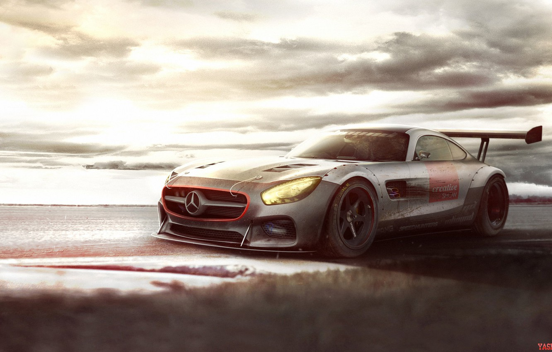 Photo wallpaper Mercedes-Benz, Auto, Figure, Machine, Mercedes, Art, AMG, SLS, Rendering, Mercedes-Benz SLS AMG, German, Yasid Oozeear, …