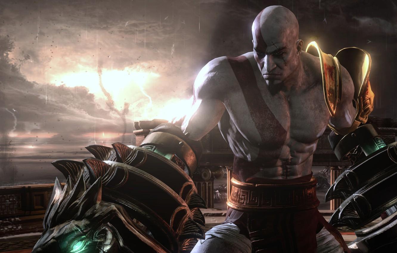 Wallpaper Game Kratos God Of War Man Spartan Warrior