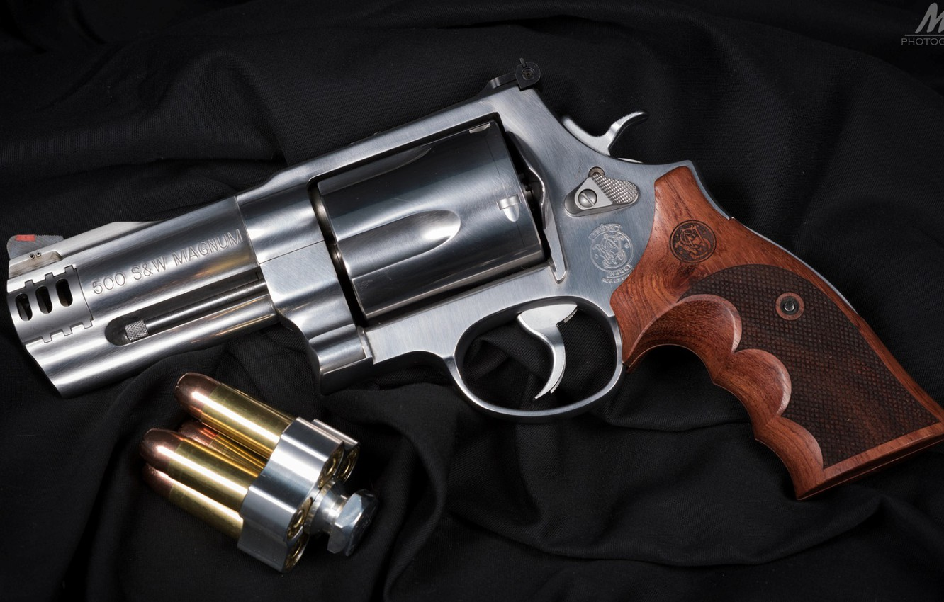 Photo wallpaper weapons, revolver, weapon, Smith & Wesson, revoler, Magnum 500, Magnum 500
