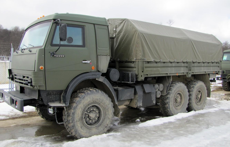 Photo wallpaper Truck, KamAZ-5350, Military Vehicle