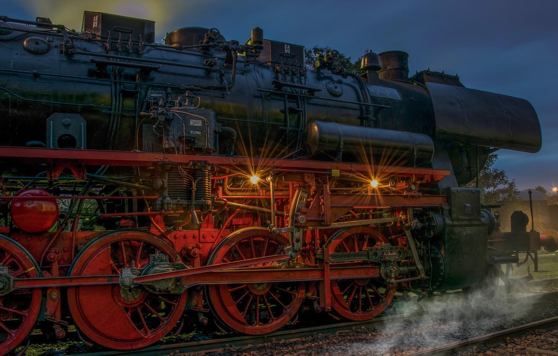 Photo wallpaper retro, the engine, technique