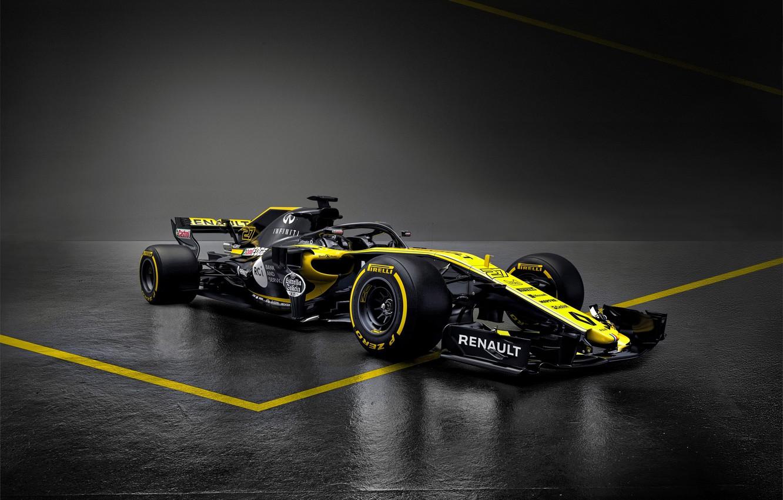 Photo wallpaper Renault, formula 1, the car, Formula 1, Reno, 2018, R.S.18