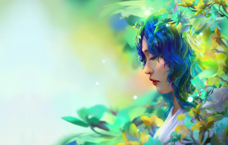 Photo wallpaper girl, fantasy, fantasy portrait, Trung Tin Shinji