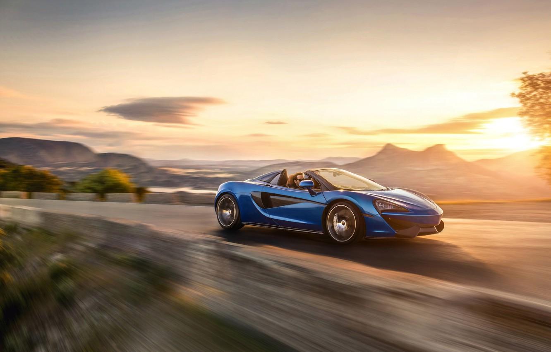 Photo wallpaper car, McLaren, supercar, fast, montain, McLaren 570S, McLaren 570S Spider