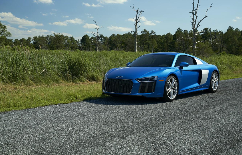 Photo wallpaper Audi, Blue, V10