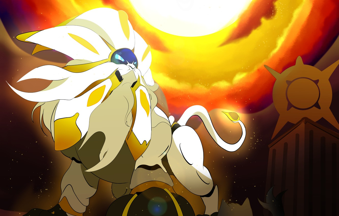 Wallpaper Game Nothing Cat Lion Sun Pokemon Pokemon Sun