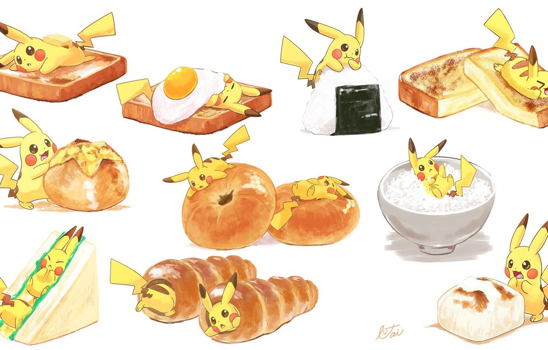 Wallpaper Food Art Pikachu Pokemon Pikachu Images For Desktop