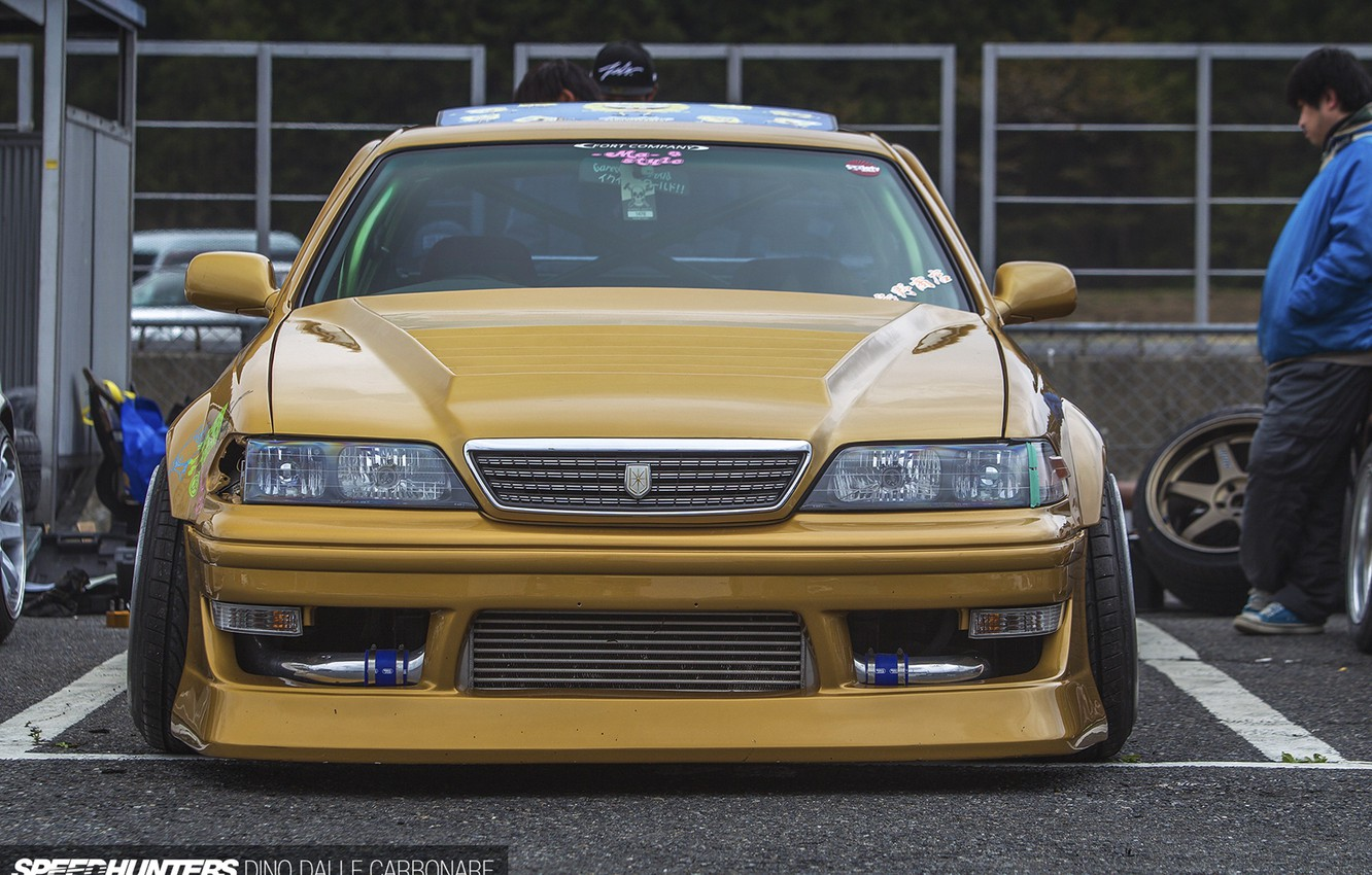 Photo wallpaper Toyota, jzx100, mark2