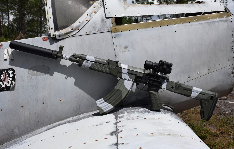 Photo wallpaper weapons, machine, the plane, sight, weapon, custom, muffler, custom, VZ 58, assaul rifle, VZ 58
