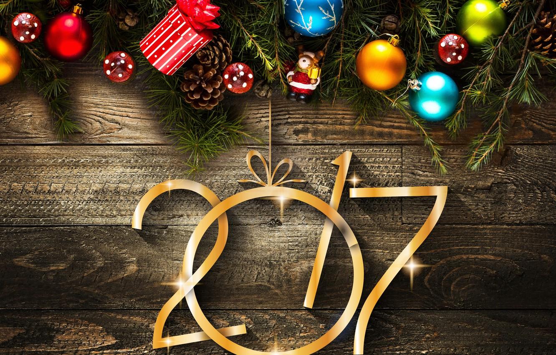 Photo wallpaper decoration, balls, tree, New year, Board, Christmas, balls, bumps, New Year, Holidays, decorations, 2017