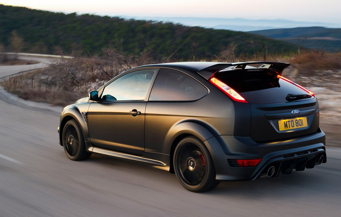 Photo wallpaper road, Ford, Focus, RS500