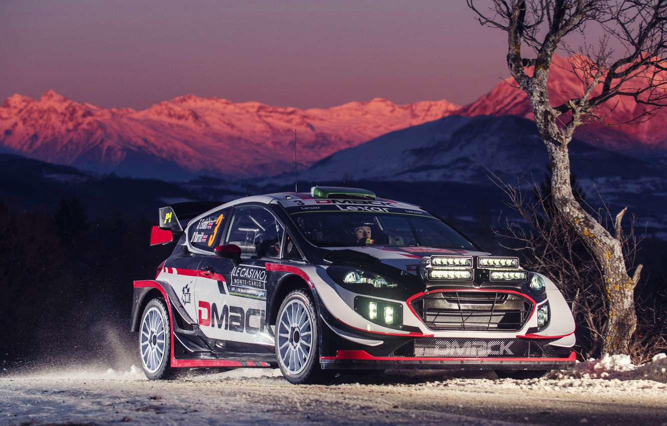 Photo wallpaper Ford, Winter, Auto, Mountains, Snow, Sport, Machine, Ford, Race, Car, WRC, Rally, Rally, Fiesta, Fiesta, ...