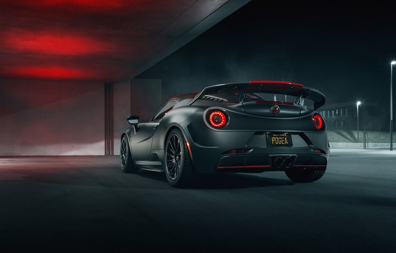 Photo wallpaper rear view, 2018, Nemesis, Pogea Racing, Аlfa Romeo 4C