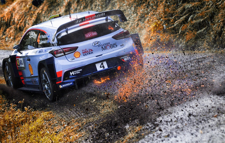 Photo wallpaper Auto, Sport, Machine, Race, Sparks, Hyundai, Car, WRC, Rally, Rally, i20, Paddon, Hayden Paddon, Hyundai …