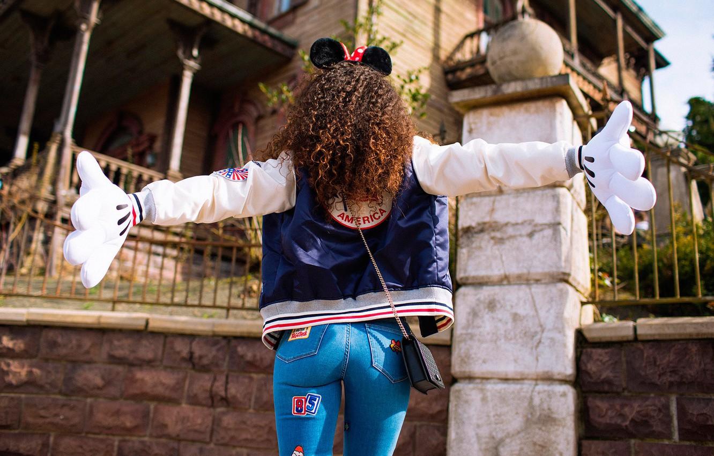 Photo wallpaper ass, girl, jeans, curls, ears, MAVRIN™, MAVRIN, DISNEY