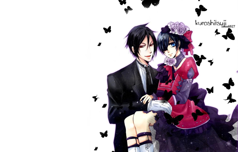 Wallpaper Anime Art Kuroshitsuji Ciel Dark Butler