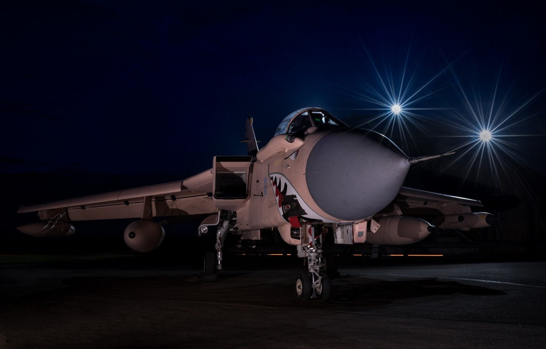 Photo wallpaper night, teeth, mouth, the plane, Panavia Tornado