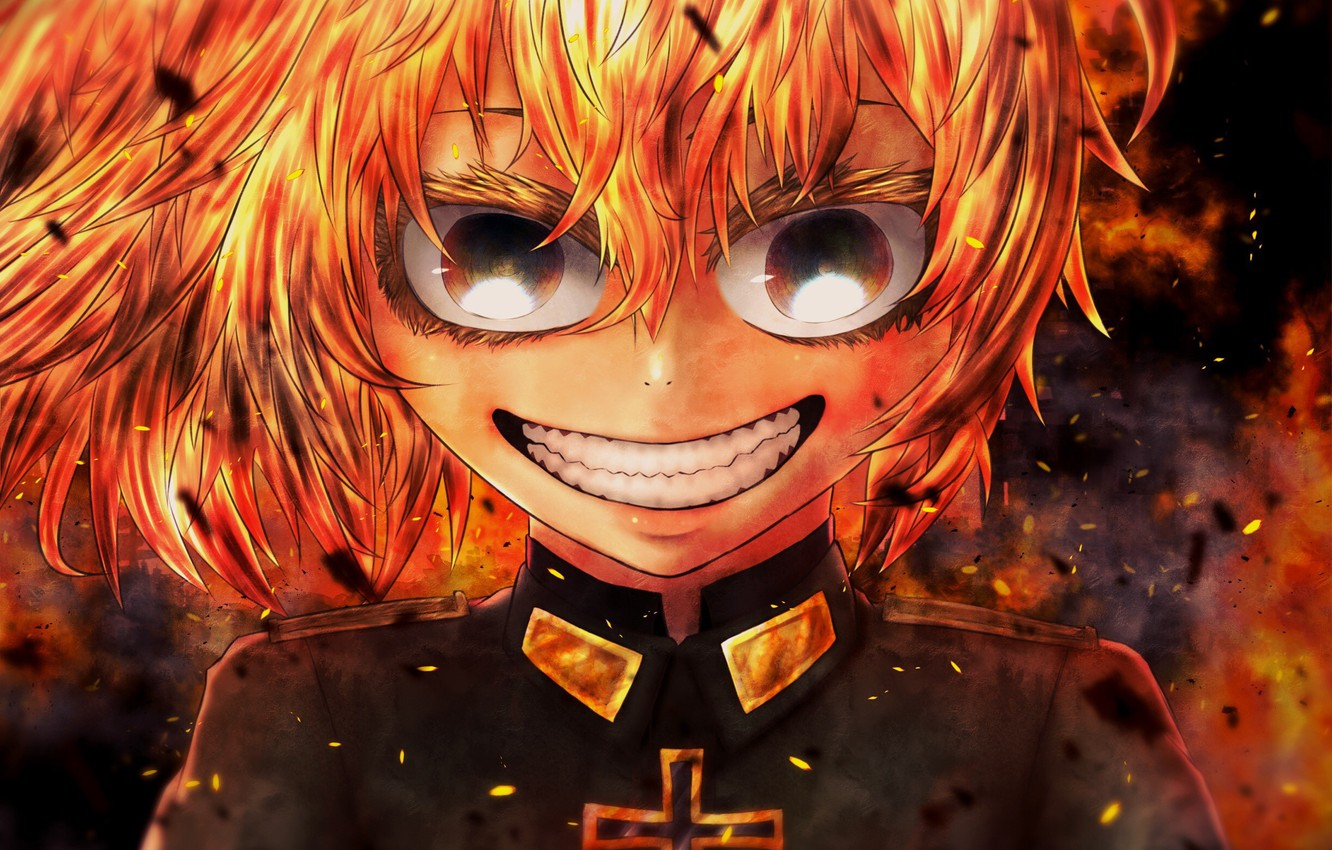 Photo wallpaper fire, flame, girl, soldier, military, war, Germany, smile, anime, cross, blonde, asian, manga, mad, oriental, …
