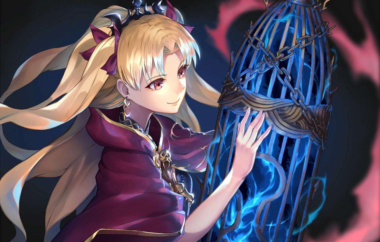 Photo wallpaper girl, magic, cell, anime
