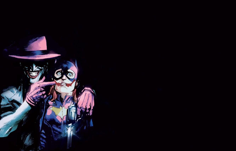 Photo wallpaper smile, fear, Joker, comic, Joker, DC Comics, Batgirl, Batgirl, New 52, The Killing Joke, Crazy, …