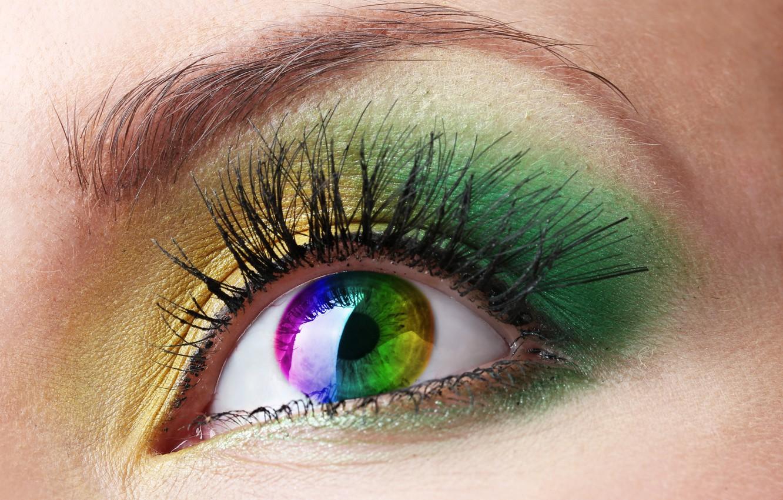 Photo wallpaper eye, female, make up