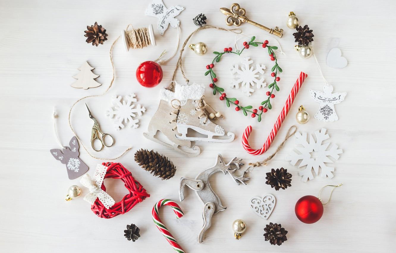 Photo wallpaper balls, New Year, Christmas, white, vintage, merry christmas, decoration, xmas