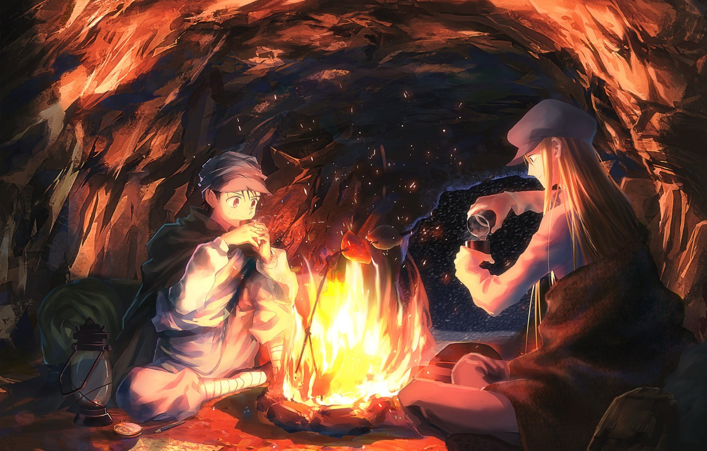 Photo wallpaper anime, art, cave, Kaito, Hunter x Hunter, Gin