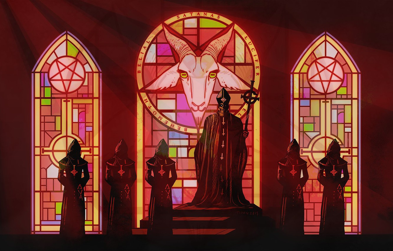 Photo wallpaper Church, ghost, the altar, art, band, Baphometh, occult, Nameless Ghouls, the occult, Papa Emeritus
