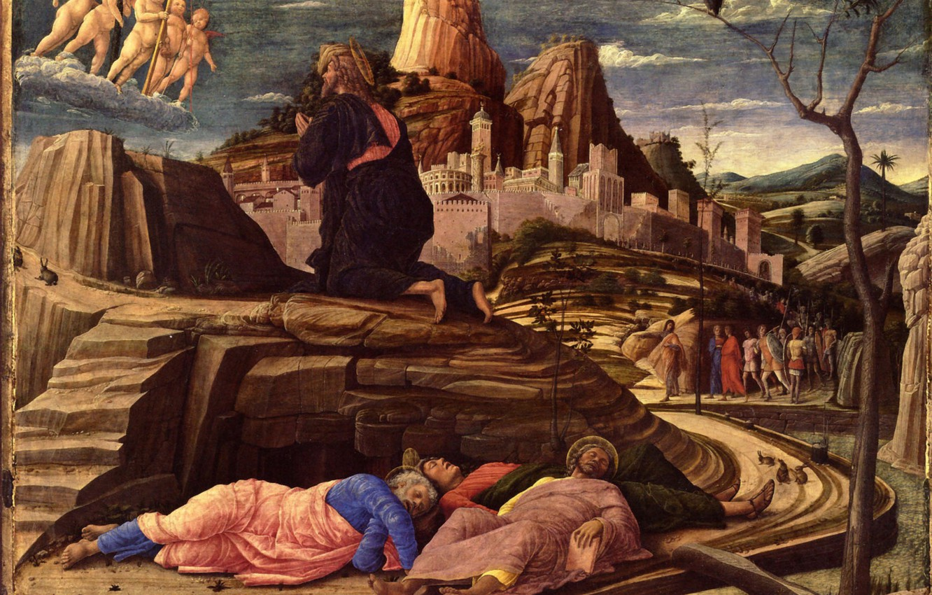 Photo wallpaper The Prayer to the, Andrea Mantegna, National Gallery, Jardin des Oliviers, 1454, Oil on Wood, …