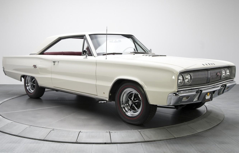 Photo wallpaper 1967, White, Dodge Coronet, Muscle classic