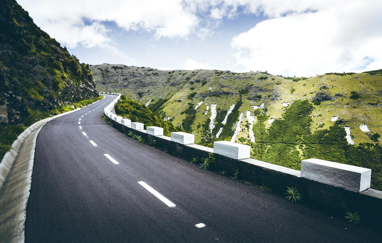Photo wallpaper road, mountains, nature