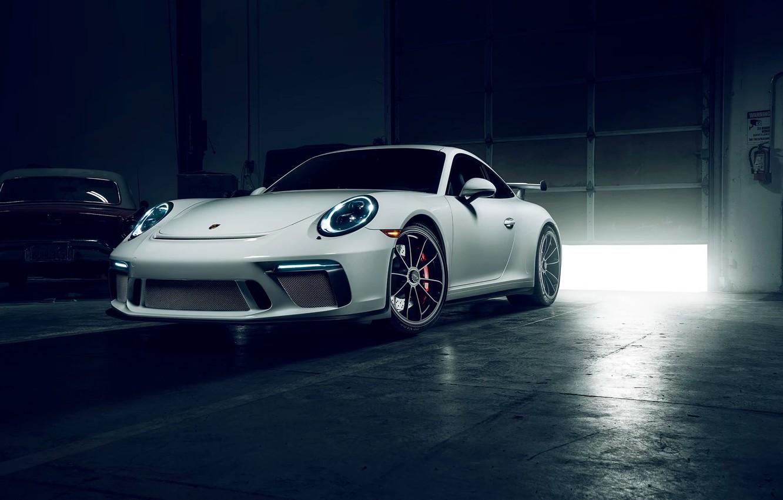 Photo wallpaper 911, Porsche, Car, Front, GT3, Sport, Garage
