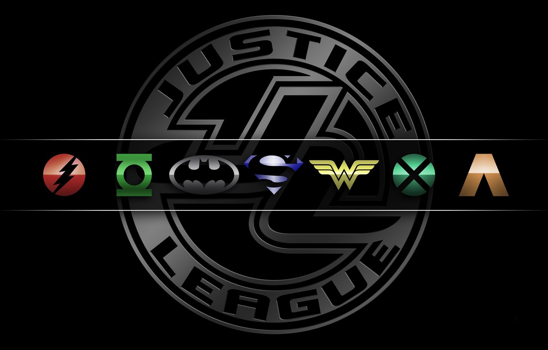 Wallpaper Logo Wonder Woman Batman Bat Green Lantern Heroes