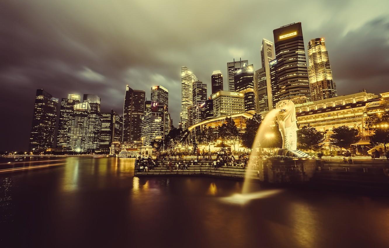 Photo wallpaper The city, Singapore, The Urban Landscape