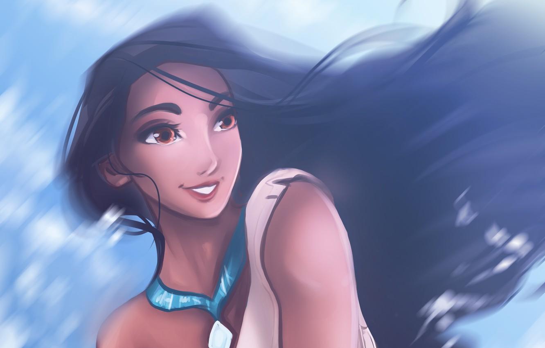 Photo wallpaper cartoon, Pocahontas, by Kachumi