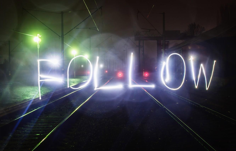 Photo wallpaper light, night, the city, lights, movement, the inscription, home, the evening, excerpt, blur, lights, cars, …