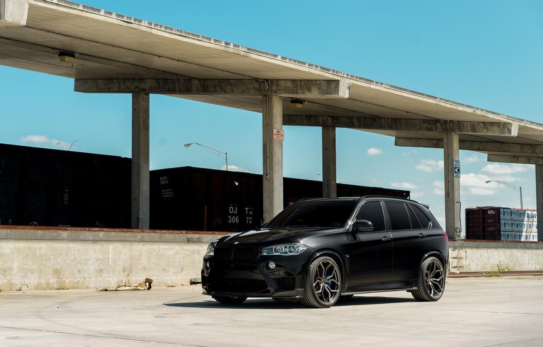 Photo wallpaper BMW, Black, X5M, F85